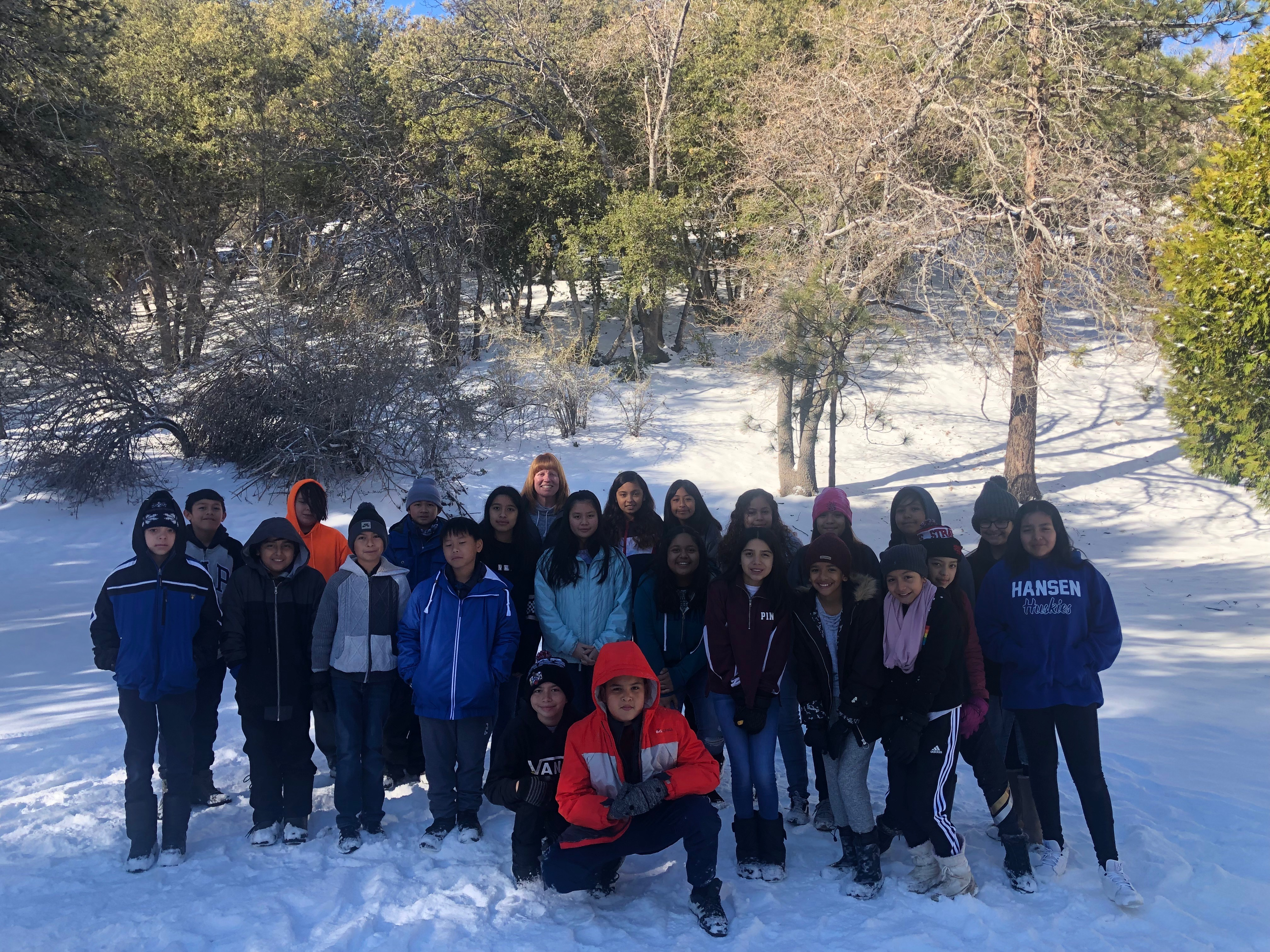 Paint Hansen School Sixth Graders Attend Outdoor Science School Students