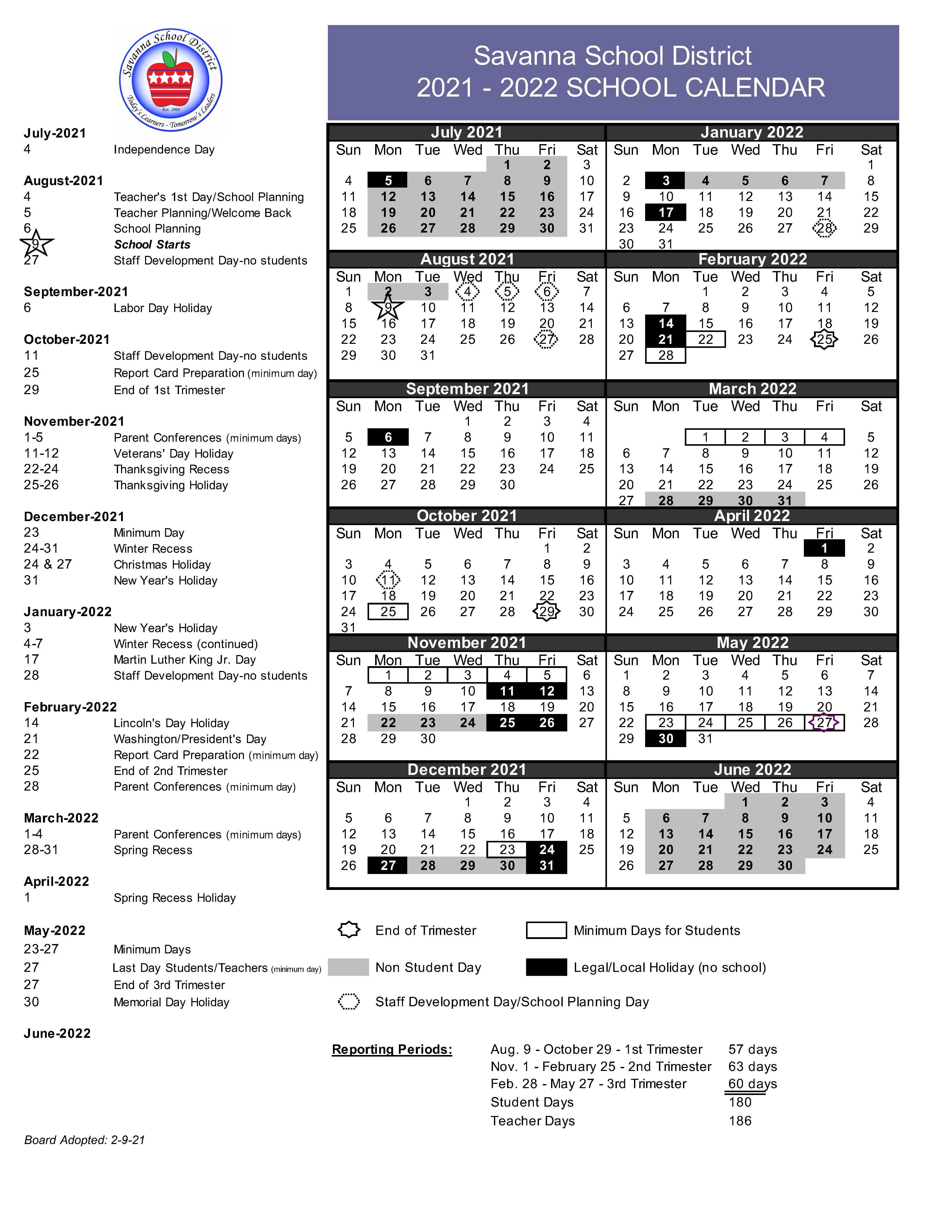 Ucla Academic Calendar 2022 23.Savanna School District Academic Calendar